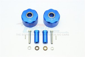 ALUMINUM PENDULUM WHEEL KNUCKLE AXLE WEIGHT + 31MM HEX ADAPTER -12PC SET				 - SCX023B-B
