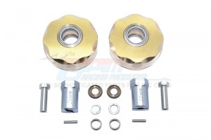 BRASS PENDULUM WHEEL KNUCKLE AXLE WEIGHT + 21MM HEX ADAPTER -14PC SET				 - SCX023X-OC