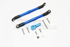 ALUMINIUM ADJUSTABLE STEERING LINKS & SERVO ROD WITH 25T SERVO HORN - 3PCS SET - SCX216025TA-B