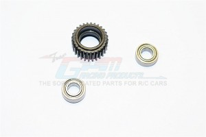 STEEL TRANSMISSION MIDDLE GEAR - 1PC SET (FOR ALL WRAITH, SCX10, SCX10 II, SMT10 SERIES) - SCX27038MG-BK