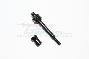 STEEL TRANSMISSION GEAR SHAFT - 1SET (FOR SCX10 90037, SCX10 II 90047, SMT10 90055, 90057) - SCX27038SG-BK