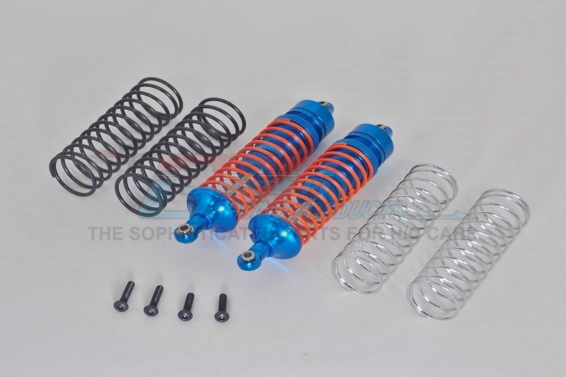 ALLOY REAR ADJUSTABLE SPRING DAMPER  WITH ALLOY BALL TOP&BALL ENDS-1PR SET  (1.3MM,1.5MM,1.7MM C - SLA102R-B-OR