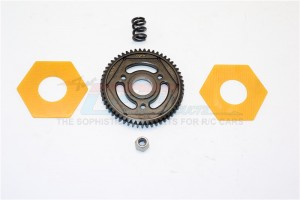 STEEL#45 SPUR GEAR (55T) - 1PC SET (FOR SCX10 II, SMT10 MONSTER JAM AX90055) - SMJ055T-BK