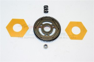 STEEL#45 SPUR GEAR (56T) - 1PC SET (FOR SCX10 II, SMT10 MONSTER JAM AX90055) - SMJ056T-BK