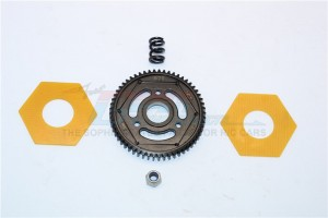 STEEL#45 SPUR GEAR (57T) - 1PC SET (FOR SCX10 II, SMT10 MONSTER JAM AX90055) - SMJ057T-BK