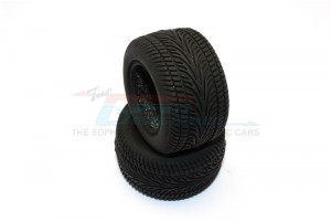 FRONT/REAR RUBBER RADIAL TIRES WITH INSERT (30 DEG) -1PR - SMT889L30G-OC
