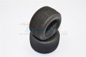 FRONT/REAR RUBBER RADIAL TIRES WITH INSERT (40 DEG) -1PR - SMT896L40-OC