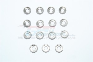 STAINLESS STEEL 4MM HOLE ROUND HEAD SCREW MESON -15PC SET - SR4OD10TK1-OC