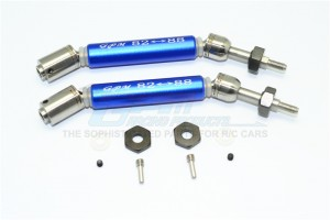 STAINLESS STEEL 304+ALUMINUM REAR CVD DRIVE SHAFT WITH STEEL WHEEL HEX -10PC SET - SSLA1277RHA-B