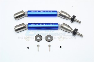 STAINLESS STEEL 304+ALUMINUM FRONT CVD DRIVE SHAFT WITH STEEL WHEEL HEX -10PC SET - SSLA1280FHA-B