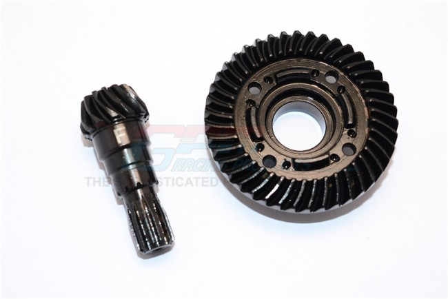 GPM Racing Chrome Steel Front Spiral Bevel Gears - 1set Black
