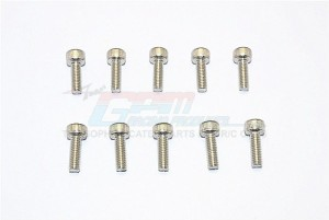 SUS304 STAINLESS STEEL CAP HEAD SOCKET SCREWS M4X8MM - 10PCS - SUS4X8-OC