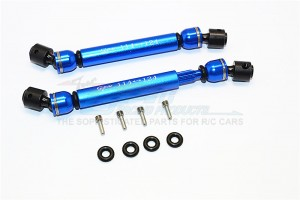 STEEL+ALUMINIUM FRONT & REAR MAIN DRIVE SHAFT (114MM-124MM) - 1PR SET (FOR SAWBACK, SWBACK 4LS, KOMODO) - SW237SAA-B