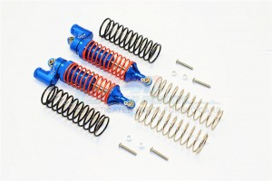 ALUMINIUM REAR ADJUSTABLE L-SHAPE DAMPER (95MM) WITH 1.3MM & 1.7MM COIL SPARE SPRINGS - 1PR SET (FOR SLASH 4X4 / TELLURIDE) - TEL095R/L-B-OR