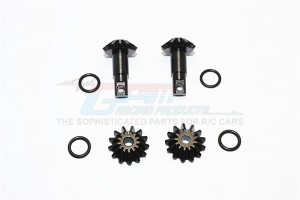 STEEL DIFFERENTIAL GEARS - 1SET  - TEL1200S-BK