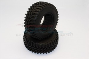 1.9' RUBBER TIRES WITH FOAM INSERTS (OUTER DIAMETER 100MM, TIRE WIDTH 39MM) - 1PR - TIRE1939-OC