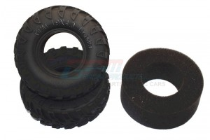 1.9' RUBBER RADIAL TIRE WITH FOAM INSERT 45DEG (1.9'x4.3 - TIRE19F/R45-OC