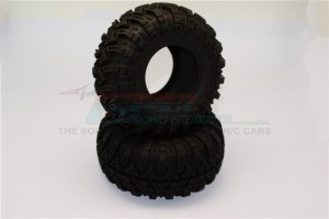 2.2'' RUBBER TIRES WITH FOAM INSERTS (OUTER DIAMETER 130MM, TIRE WIDTH 60MM) - 1PR - TIRE2260-OC