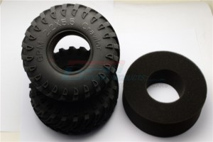 2.2' RUBBER RADIAL TIRE WITH FOAM INSERT 45DEG (2.2 - TIRE22F/R45-OC
