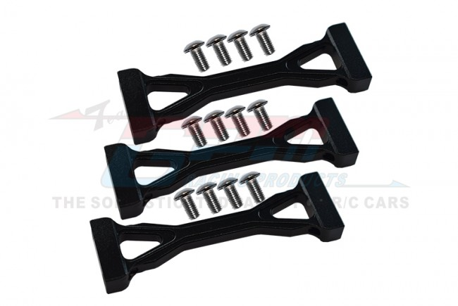 ALLOY MIDDLE CHASSIS MOUNT WITH SCREWS  - 3PCS SET (FOR KING HAULE /GLOBE LINER  /FORD AEROMAX) - TRU009-BK