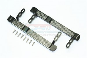 ALUMINUM SIDE STEPS (RETICULATED PATTERN) -10PC SET - TRX4014X-BK