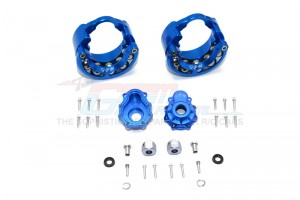 ALUMINUM PENDULUM WHEEL KNUCKLE AXLE WEIGHT + 6MM HEX ADAPTER WITH ALUMINUM F/R OUTER CASE -24PC SET - TRX4023A-B