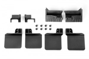 TRX4 POLYURETHANE FRONT / REAR SKID PLATE UPGRADE KIT (NO LOGO) -16PC SET - TRX4ZSP16A-BK