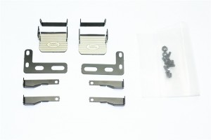 SCALE ACCESSORIES: STAINLESS STEEL SIDE STEP FOR TRX-4 DEFENDER -18PC SET - TRX4ZSP31-BK