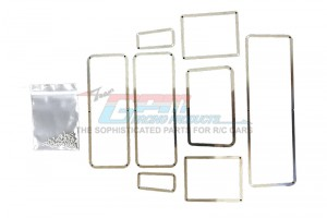SCALE ACCESSORIES: STAINLESS STEEL WINDOW FRAME FOR TRX-4 DEFENDER -8PC SET - TRX4ZSP36-OC