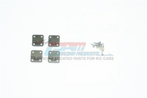 SCALE ACCESSORIES: STAINLESS STEEL DOOR HINGES FOR TRX-4 DEFENDER -20PC SET	 - TRX4ZSP38-BK