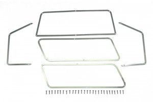 SCALE ACCESSORIES: STAINLESS STEEL WINDOW FRAME FOR TRX-4 FORD BRONCO -33PC SET - TRX4ZSP40-OC