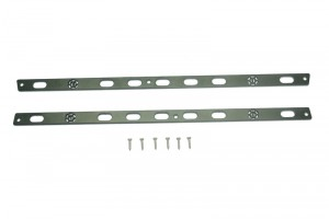 SCALE ACCESSORIES: STAINLESS STEEL DOOR EDGE ANTI SCRATCH STRIP FOR TRX-4 DEFENDER -8PC SET - TRX4ZSP41-BK