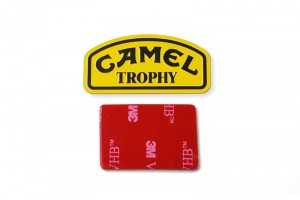 SCALE ACCESSORIES: CAMEL TROPHY METAL PLATE FOR TRX-4 DEFENDER -2PC SET - TRX4ZSP44-OC
