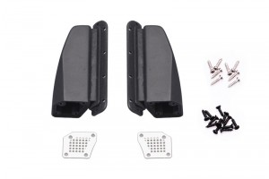 SCALE ACCESSORIES: METAL COVER FENDER VENT FOR TRX-4 FORD BRONCO -24PC SET - TRX4ZSP54-BK