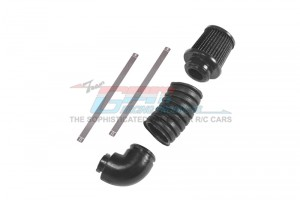 V8 6.2L LS3 ENGINE INTAKE AIR FILTER PIPE (SINGLE PIPE) -5PC SET - TRX4ZSP56B-BK