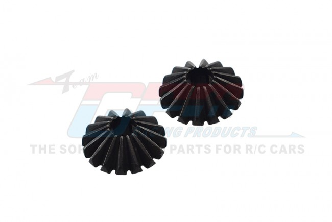 STEEL LARGE BEVEL GEAR - 2PCS  (FOR TT02 / TT02B) - TT2100/G3-BK