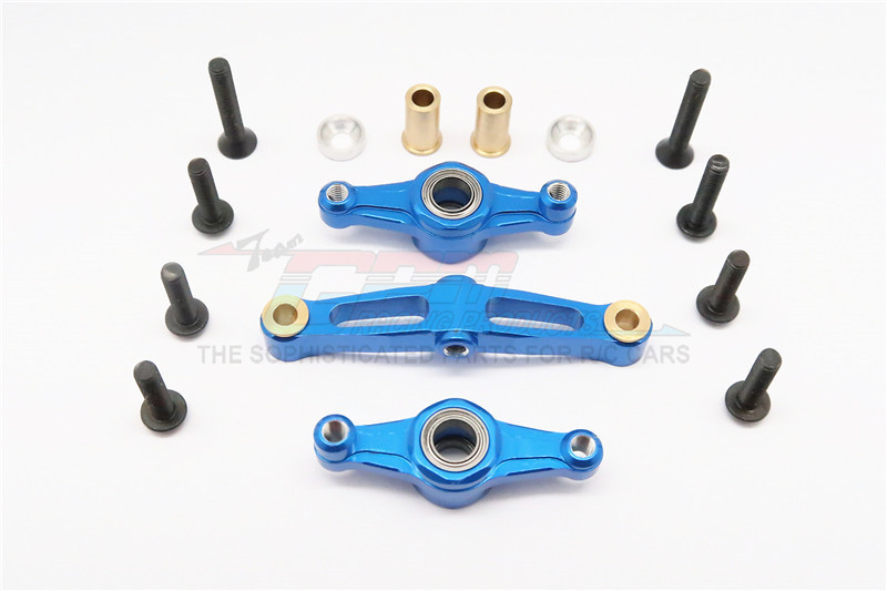 ALLOY STEERING ASSEMBLY WITH BEARING - 1SET  (FOR TT02, TT02B) - TT2B048B-B