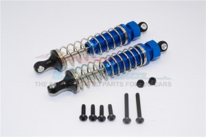 ALLOY REAR ADJUSTABLE SPRING DAMPER  (95MM) - 1PR SET - TT2B095R-B-S-BEBK