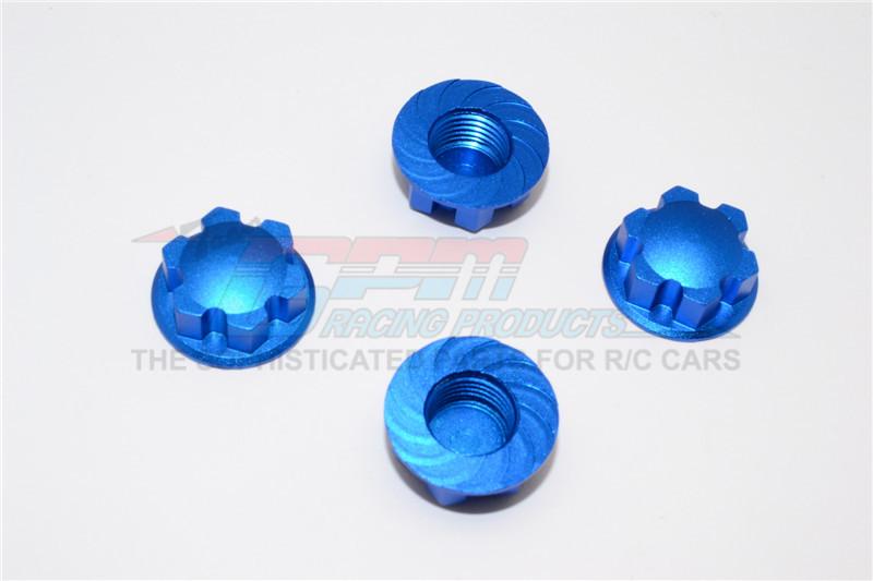 GPM Racing Aluminium Wheel Locker - 4pcs Blue