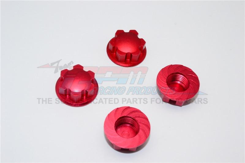 GPM Racing Aluminium Wheel Locker - 4pcs Red