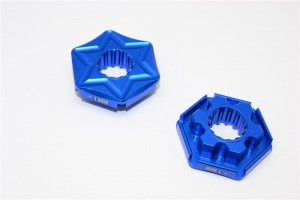 ALUMINIUM WHEEL HEX CLAW (+1MM) - 2PCS - TXM006/+1-B
