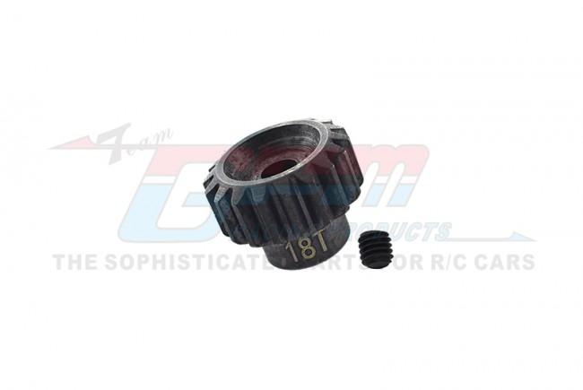 GPM Racing Steel Motor Gear (18t) - 1pc Black