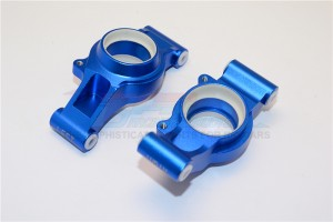 ALUMINUM REAR KNUCKLE ARMS WITH COLLARS 2PC SET - TXM022N-B