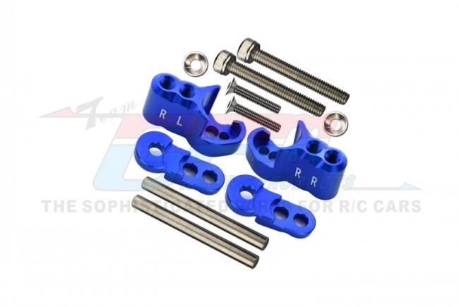 GPM Racing Aluminium Rear Adjustable Shock Mount - 1set Blue