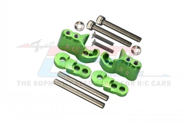 GPM Racing Aluminium Rear Adjustable Shock Mount - 1set Green