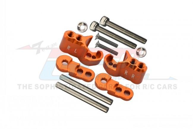GPM Racing Aluminium Rear Adjustable Shock Mount - 1set Orange