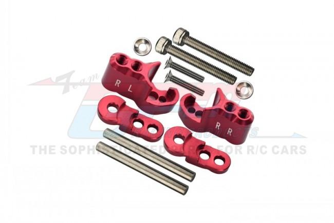GPM Racing Aluminium Rear Adjustable Shock Mount - 1set Red