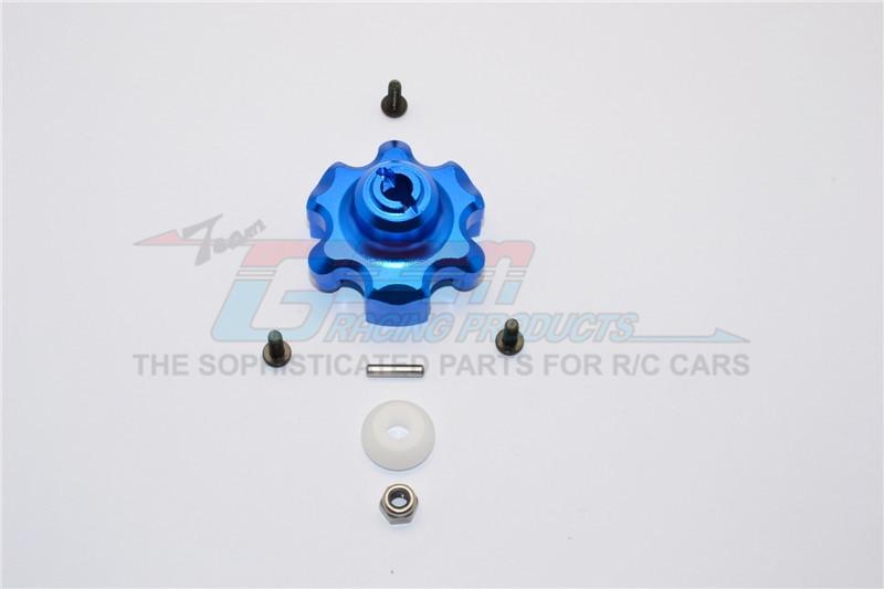 GPM Racing Aluminium Spur Gear Adapter - 1pc Set Blue