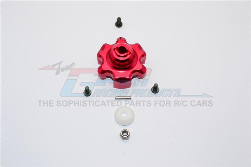 GPM Racing Aluminium Spur Gear Adapter - 1pc Set Red