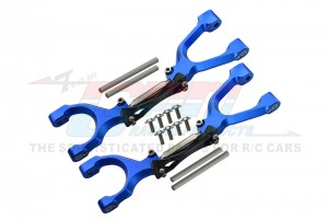SPRING STEEL + ALUMINUM SUPPORTING MOUNT WITH FRONT / REAR UPPER ARMS SET - TXM054SN-B-BK